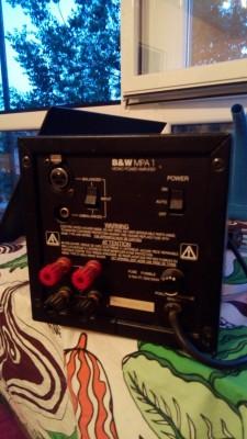 Pareja de amplificadores Bowers & Wilkins MPA 1