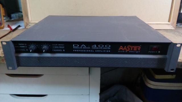 Etapa de potencia Amplificador Master Audio DA 400