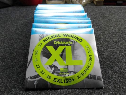 Lote 11 Juegos de cuerdas 8.5-39 D`ADDARIO EXL130+