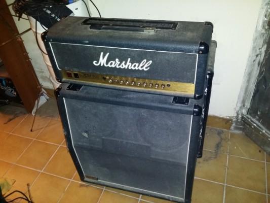 Marshall Jcm 900 high gain dual reverb cabezal+pantalla