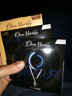 Juegos de cuerdas guitarra eléctrica Dean Markley signature