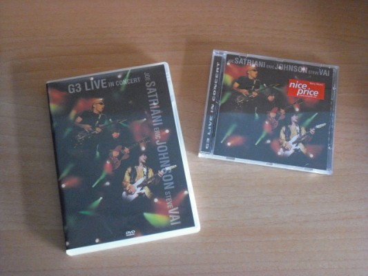 G3 - Satriani / Johnson / Vai: lote CD y DVD