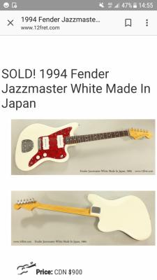 Compro Fender Jazzmaster Japon vintage white año 94/97