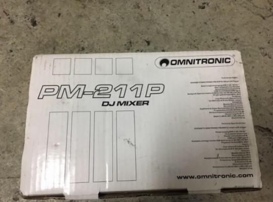 Mini mesa de mezclas con USB Pm-211p omnitronic