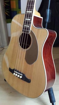 Bajo Fender Kingman Bass SCE Natural + Funda