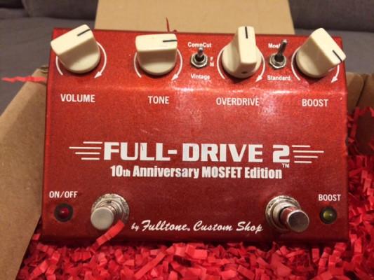 Fulltone Fulldrive 2 10th Anniversary Mosfet.ENVÍO INCLUIDO