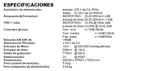 Mesa de mezclas Jb-systems MM14D
