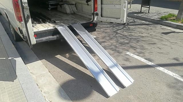 Rampas para carga equipo de sonido
