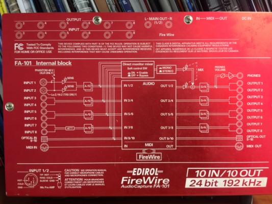 EDIROL Audio Capture FA-101 FireWire