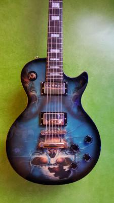guitarra tipo les paul con serigrafia RESERVADA