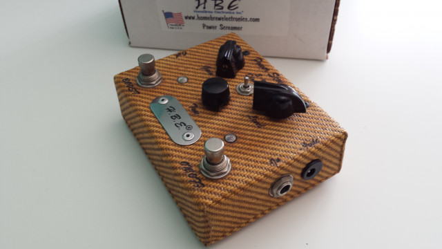 H.B.E. Power Screamer Overdrive Tweed