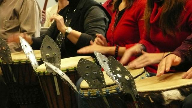 Taller de percusión en grupo