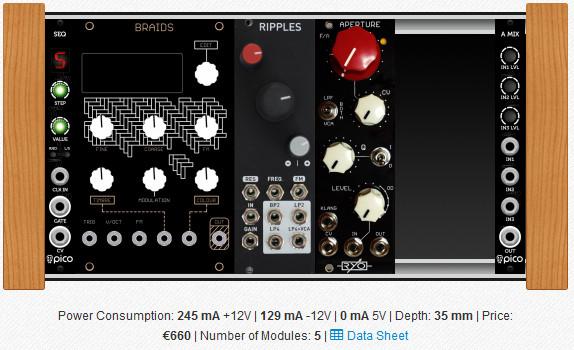 sintetizador modular eurorack