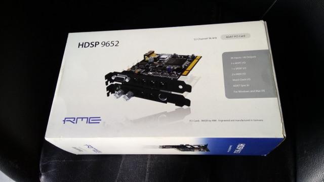 RME HDSP 9652 (o cambio por MOTU 424 PCIe)