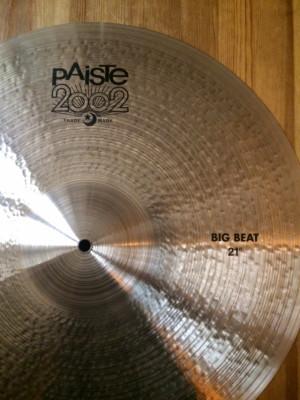 "PAISTE 2002 BIG BEAT 21"" . Impecable!!!"