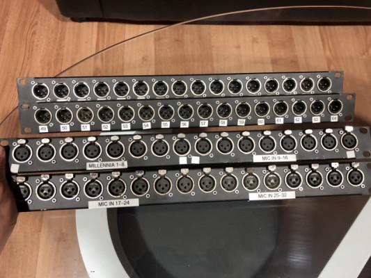 Chapas de rack con 16 canales conectores neutrik