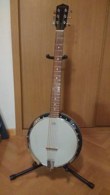 Harley Benton HBJ-26. Banjo seis cuerdas