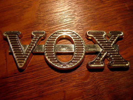 Logo original para amplificador Vox AC30