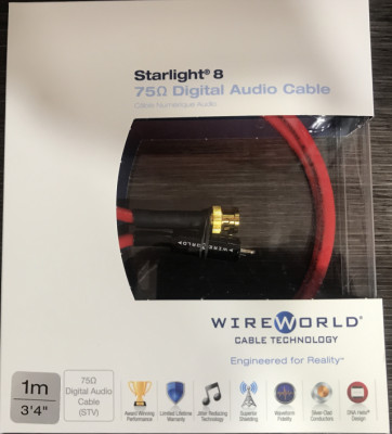 Cable Digital Wireworld Starlight 8 Coaxial-BNC (2 unidades)