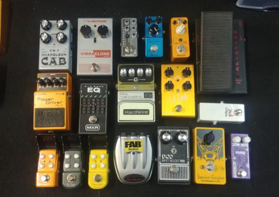 Vendo muchos pedales sueltos (O cambio todo el pack por guitarra)