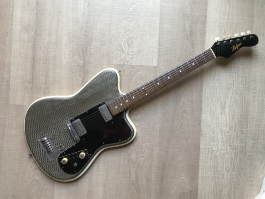 Guitarra Hofner D22S Fabrica en España Keller Vintage Guitar 1963 Coleccion Zebra