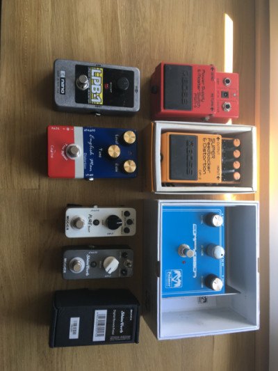 Boss, mooer, electro harmonix, caline...