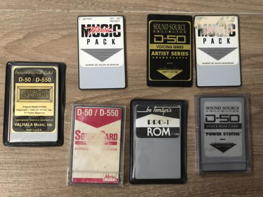 Tarjetas de sonidos para D-50