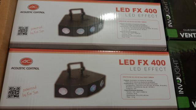 2 Efectos Led Fx 400 Acustic Control Nuevos