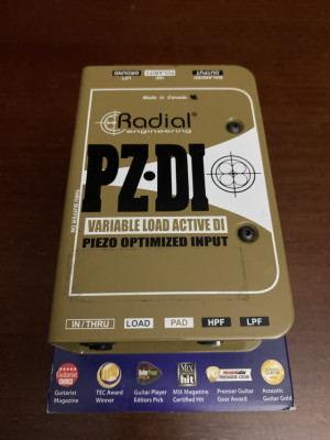 DI Radial PZ-DI - NUEVA!! Para instrumentos acústicos con Piezo