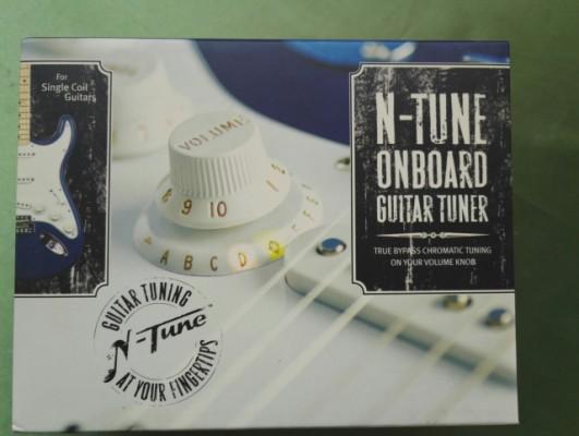 Afinador integrado en la guitarra