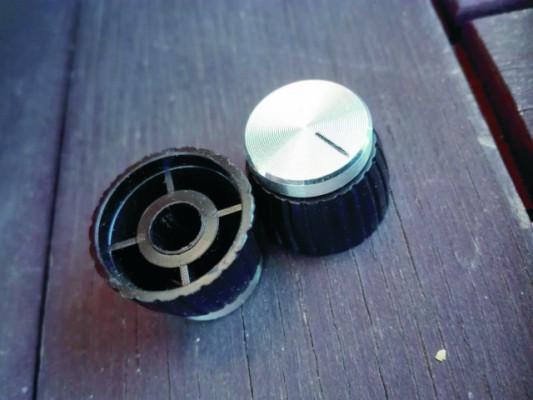 Botones de potenciómetro Marshall Push-on. Plateados (JMP / JCM)
