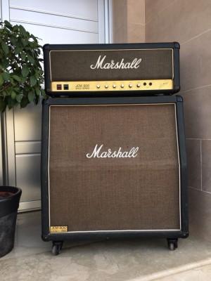 Amplificador Marshall JCM 800 MKII Super bass 100W +  Pantalla Ma
