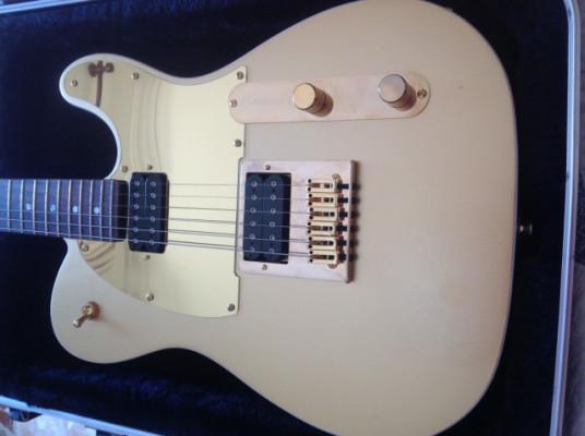 Fender Squier J5 Frost Gold Telecaster.