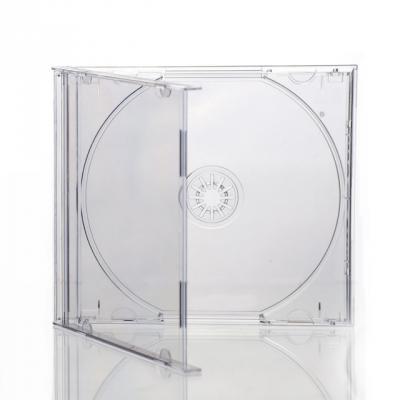 100 ESTUCHES NUEVOS CD O CAJA DE CD JEWEL BOX TRANSPARENTES