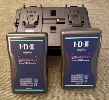 Cargador IDX VLS2 Plus y 2 baterías IDX Endura E7S