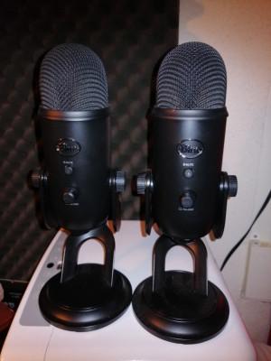 Yeti Blue Microphones x 2