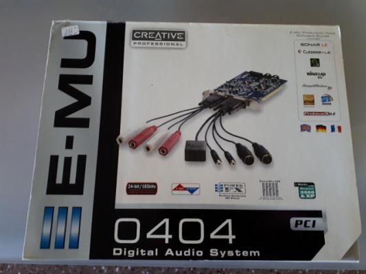 Tarjeta Sonido PCI E-MU 0404