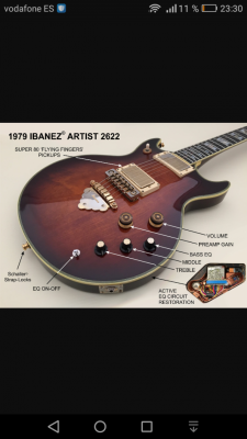 IBANEZ ARTIST 2622 STEVE MILLER (AR 500) de 1978