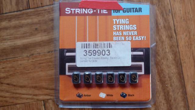 String Tie Classic Ebony