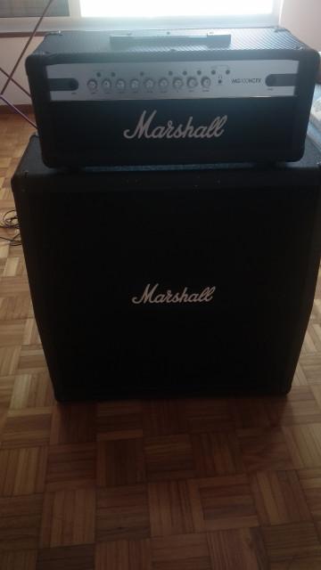 Amplificador MG100HCFX+ Pantalla Marshall M412A