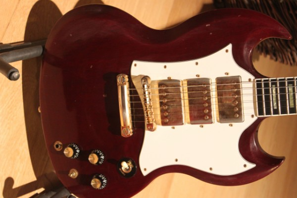 1991 Gibson SG Custom '67 Reissue acabado Aged Cherry