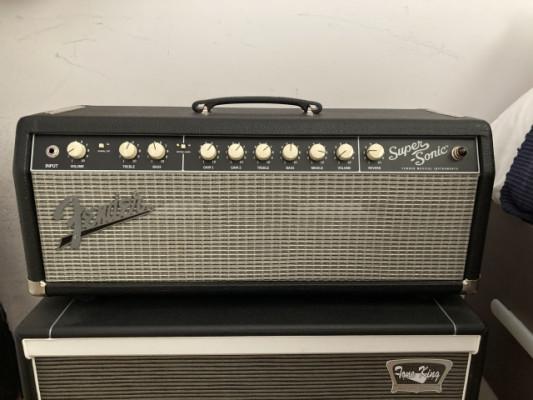Fender supersonic 22 cabezal + flightcase