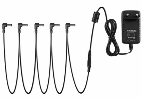 Fuente de alimentación 5 pedales (+ latiguillos)