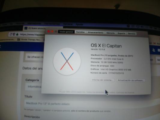 """MacBook Pro 13"""" i5 perfecto estado"""