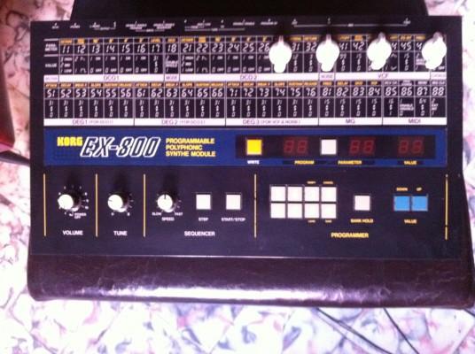 Korg Ex-800 (Poly 800) con moog slayer y FM800 (Mods)