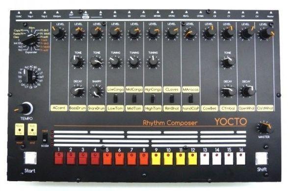 Vendo caja de ritmos Yocto v1- tr 808 clon