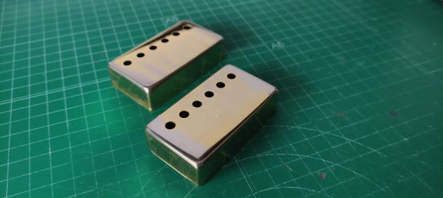 Tapas doradas humbucker 50mm y 52mm