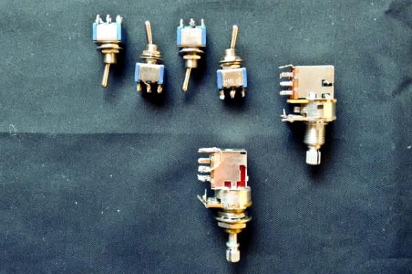 VARIOS  (2 push-pull,conmutadores, string winder)--fotos--cambios