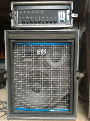 Amplificador EBS Fafner y pantalla EBS