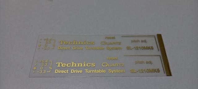 kit de letras transfer para technics 1200,1210,m3d,mk5,m5g en varios colores